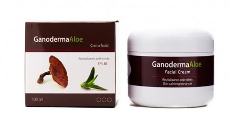 Crema faciala, eterna tinerete, pentru ten uscat sau inbatranit, esenta de ganoderma, gel aloe vera, 100 ml