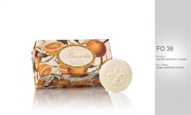 Cutie cadou - 6 x 50 g sapunuri sculptate - cu aroma naturala de portocale, lamai, pere, violete sau trandafir