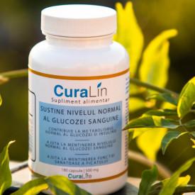 Diabet, reduce controlat glicemia, CuraLin 180 caps - in limita stocului