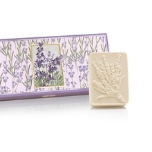 Cutie cadou - 3 x 125g sapunuri sculptate - cu aroma naturala de lavanda, violete, lacramioara sau portocale