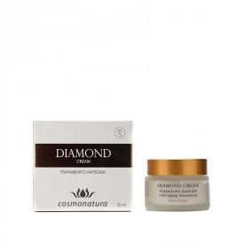Diamond creama faciala, cosmonatura, antiinbatranire, celule stem de aloe, ginkgo biloba, colagen, argan, acid hialuronic, unt de shea, coenzima Q 10, 50ml