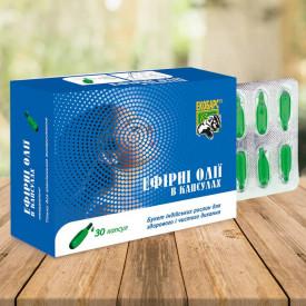 Uleiuri esentiale pentru inhalatii, camfor, eucalipt, timol, 30 capsule - 280 mg