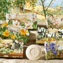 Cutie cadou - 2 x 150g sapunuri sculptate - cu aroma naturala de narcise, masline, crin, iris sau migdale