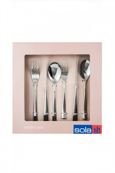 SET TACAMURI INOX LOTUS 4/32