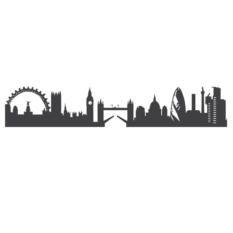 Autocolant de perete London Skyline, 15 x 60 cm poza chilipirul-zilei.ro