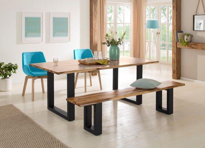 Banca Home Affaire, lemn salcam/ metal, 200cm