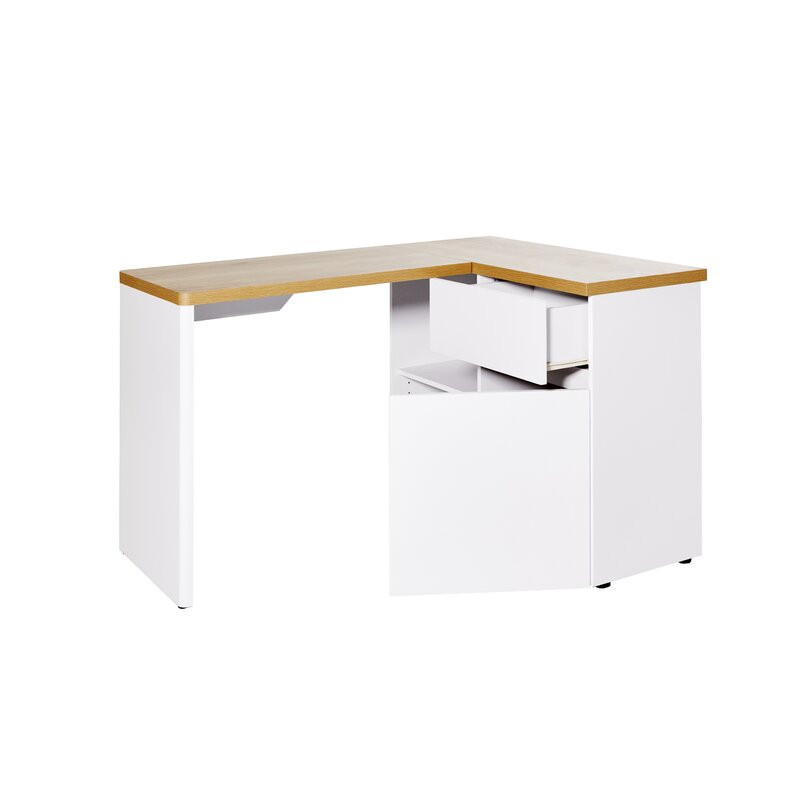 Birou Libre din lemn, alb, 111 x 90 cm