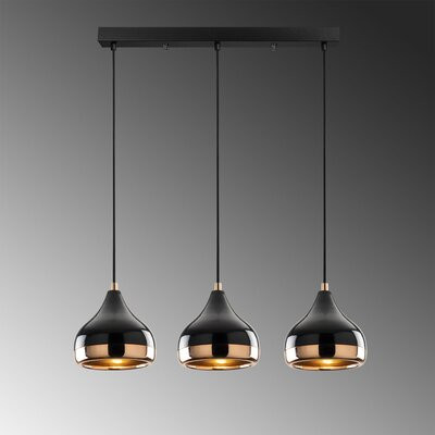 Candelabru modern negru, 3 x E27 imagine 2021