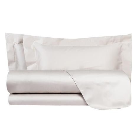 Cearsaf drept de pat si 2 fete de perna Essential gri, matrimoniala 2021 chilipirul-zilei.ro