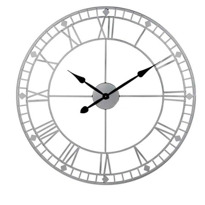 Ceas de perete Marilynn, metal, alb, 40 x 40 x 3,5 cm poza chilipirul-zilei.ro