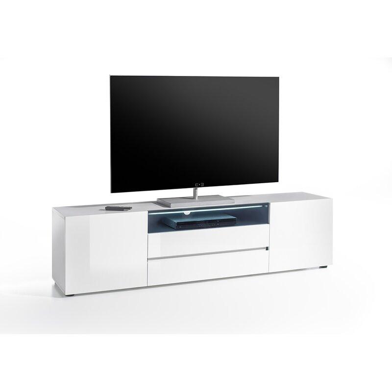 """Comodă TV 78"""" Raines, MDF, alb, 185 cm x 49 cm x 43 cm imagine 2021 chilipirul zilei"""