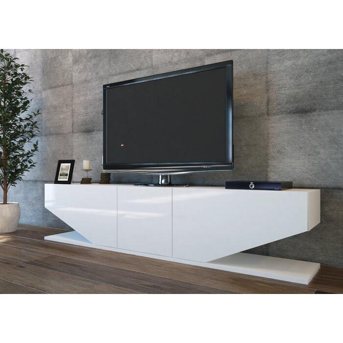Comoda TV Agarita, PAL, alba, 179,83 x 39,88 x 29,97 cm