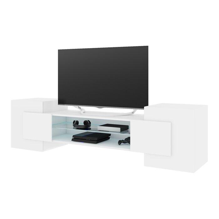 Comoda TV Gaelin, alba, 160 x 50,5 x 38,2 cm 2021 chilipirul-zilei.ro