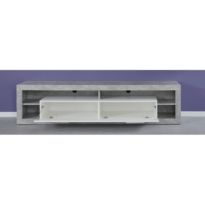 Comoda TV Raúl, Gri/Alb, 200 x 48 x 44 cm