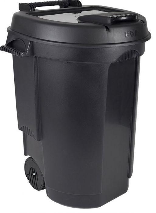Cos de gunoi 110L polipropilena, negru imagine chilipirul-zilei.ro