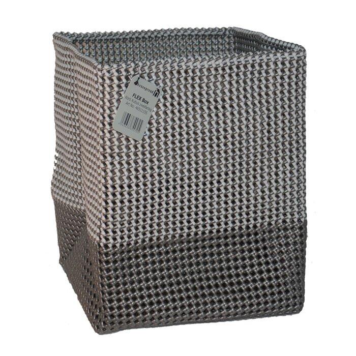 Cos de rufe, plastic, gri/negru, 40 x 30 x 30 cm poza chilipirul-zilei.ro