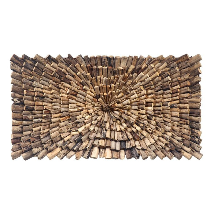 Decor de perete, lemn, maro, 70 x 14 cm poza chilipirul-zilei.ro