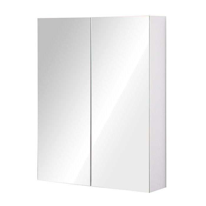 Dulap pentru baie Classen, cu oglinda, argintiu, 75 x 60 x 15 cm 2021 chilipirul-zilei.ro