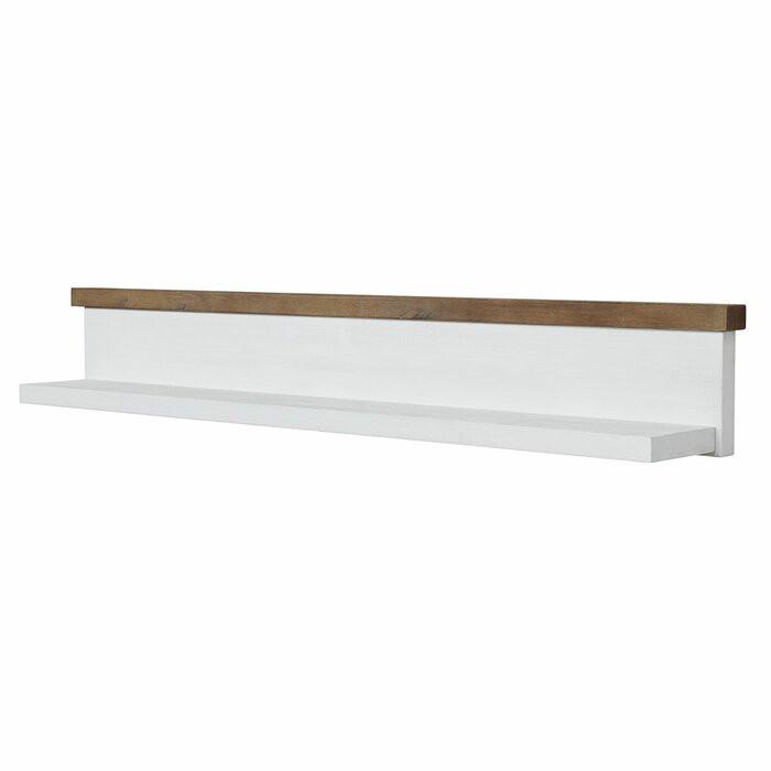 Etajera Newcastle, lemn masiv, maro/alb, 24,5 x 160 x 22 cm 2021 chilipirul-zilei.ro