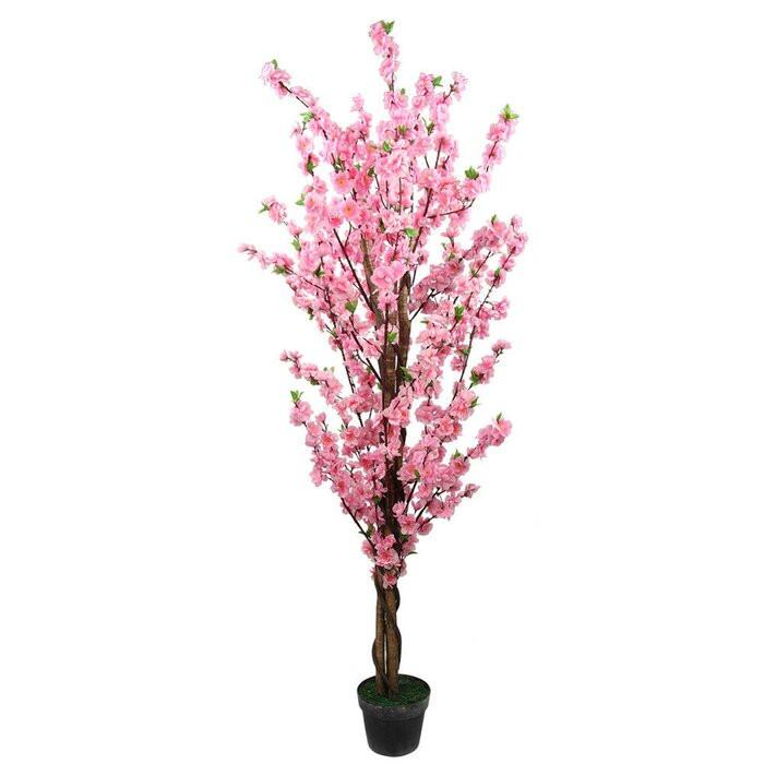 Floare artificiala roz, 150 cm chilipirul-zilei 2021