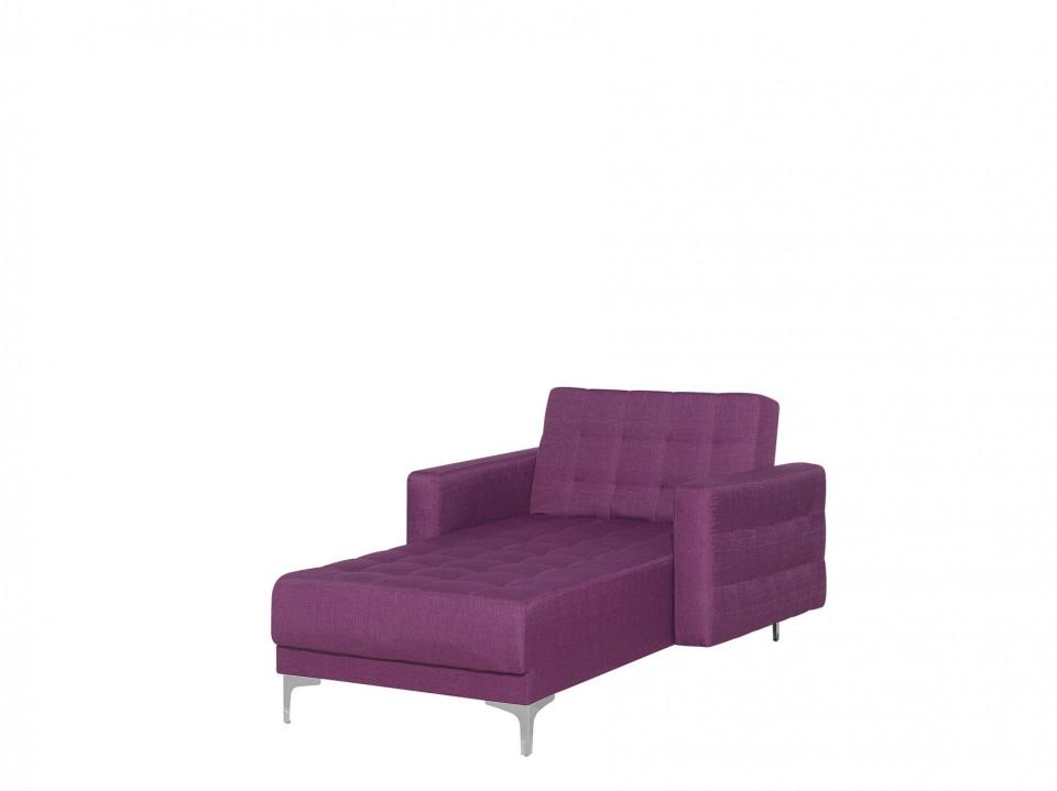 Fotoliu pat Aberdeen din stofa, violet, 140 x 81 cm
