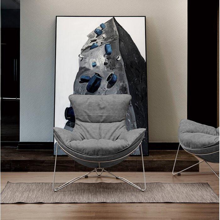 Fotoliu Rocio, gri, 96 x 86 x 84 cm chilipirul-zilei.ro