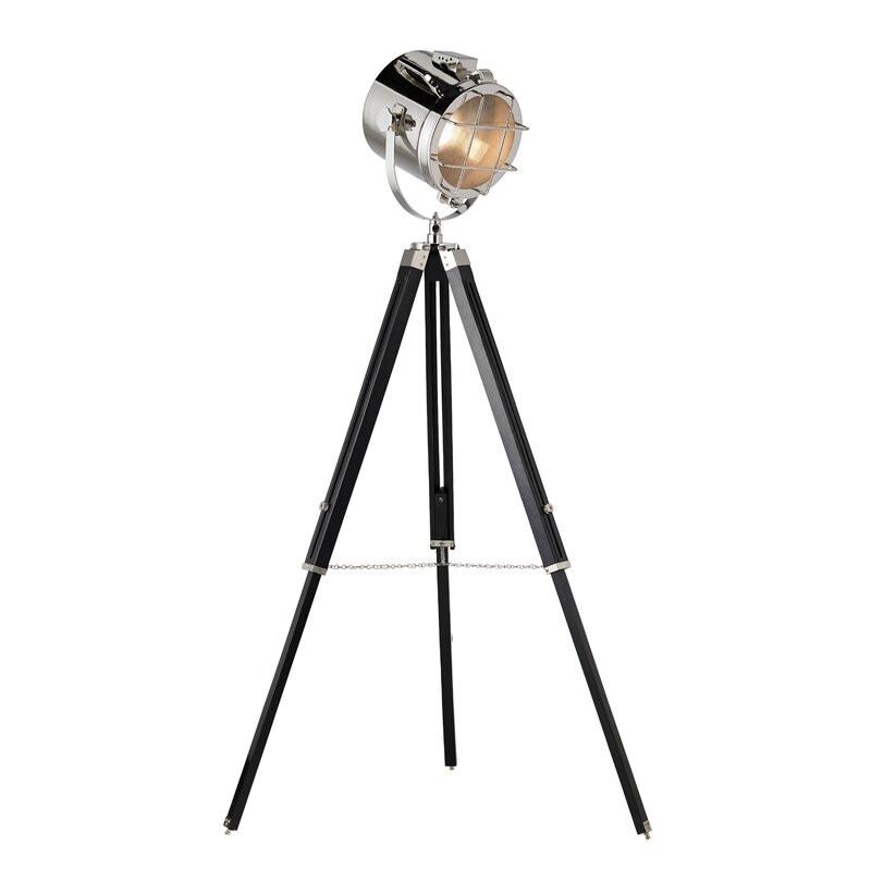 Lampadar Compton din metal, negru, H 172 cm