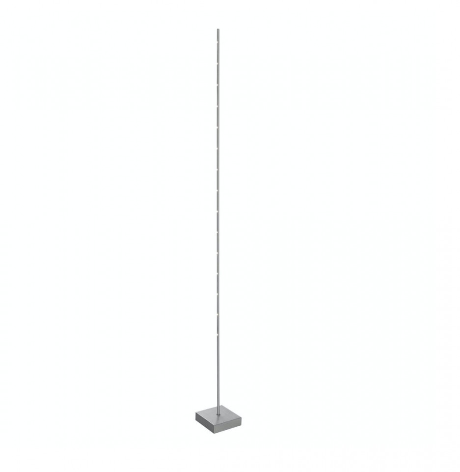 Lampadar Pin LED metal, argintiu, 1 bec, 230 V, 15 W