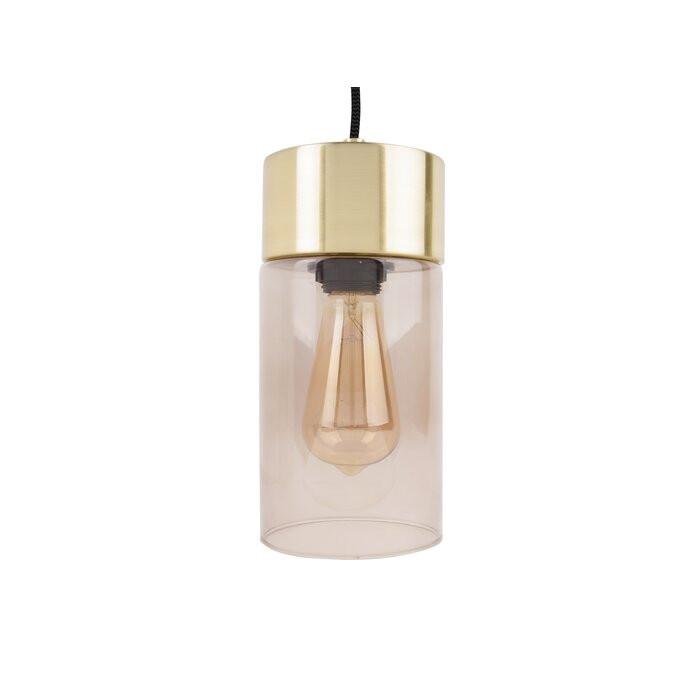 Lustra tip pendul Lax, sticla, 24,5 x 12 x 12 cm, 40w chilipirul-zilei.ro