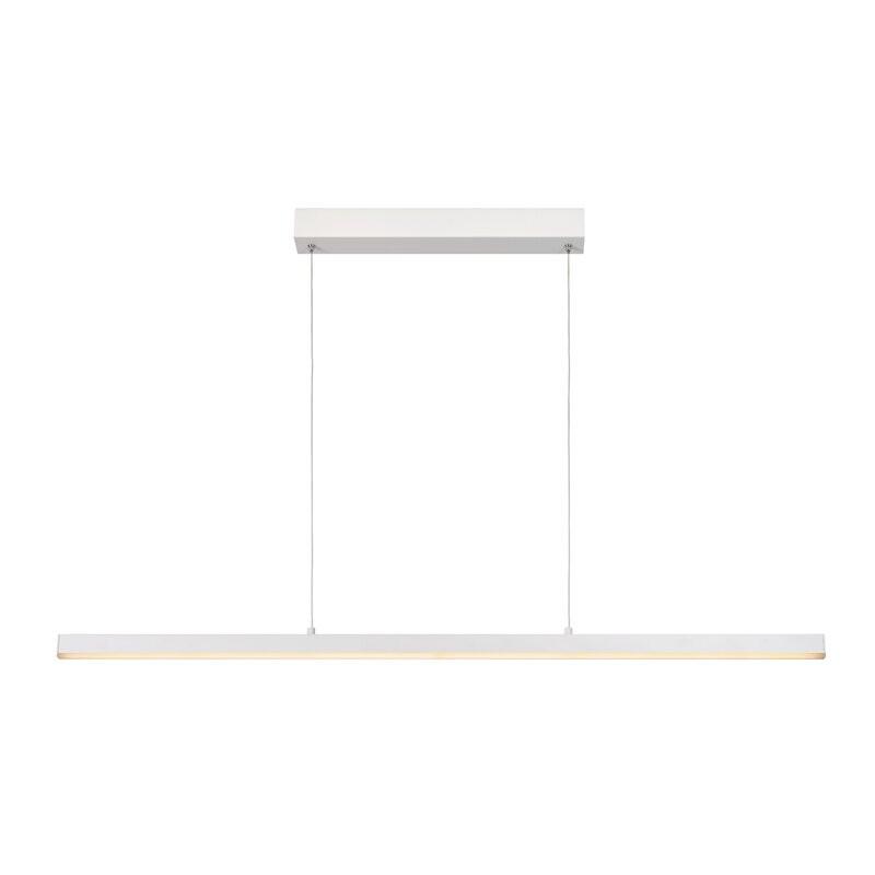 Lustra Sigma din metal, alb, 118 x 8.2 cm