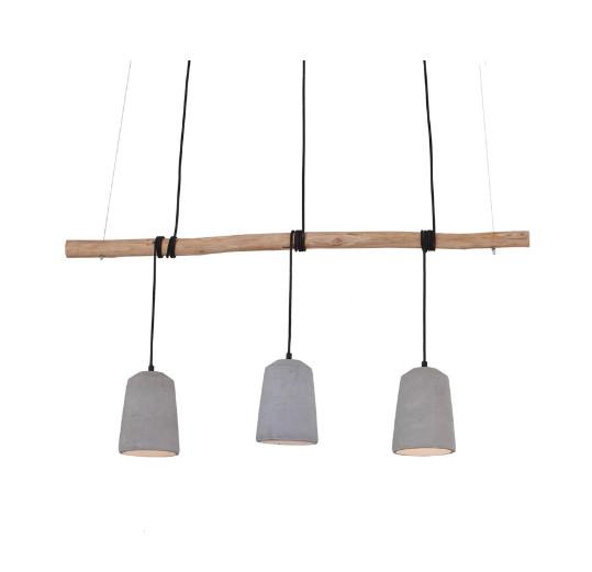 Lustra tip pendul Viane, metal/lemn, maro/gri, 120 x 150 x 15 cm, 25w poza chilipirul-zilei.ro