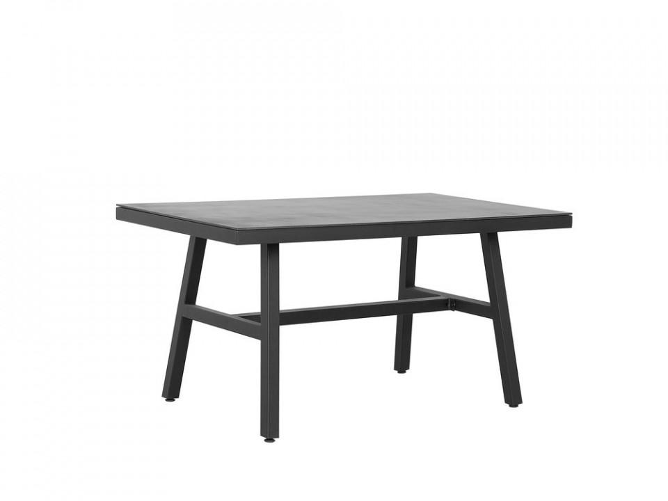 Masă de grădină Canetto, negru, 150 x 90 cm