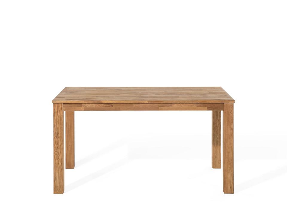 Masă extensibilă din stejar MAXIMA, lemn deschis, 180/270 x 85 cm chilipirul-zilei.ro