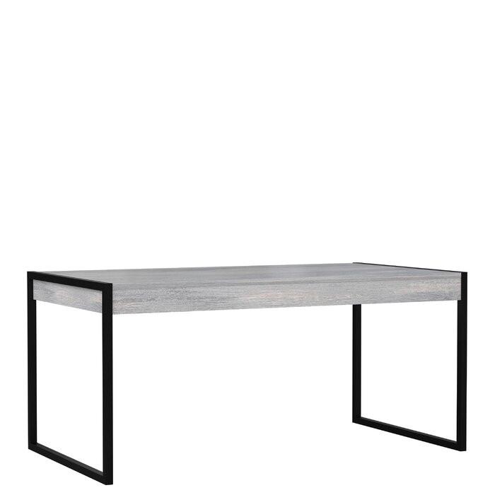 Masa Grace, lemn/metal, gri, 166 x 90,2 x 76,9 cm