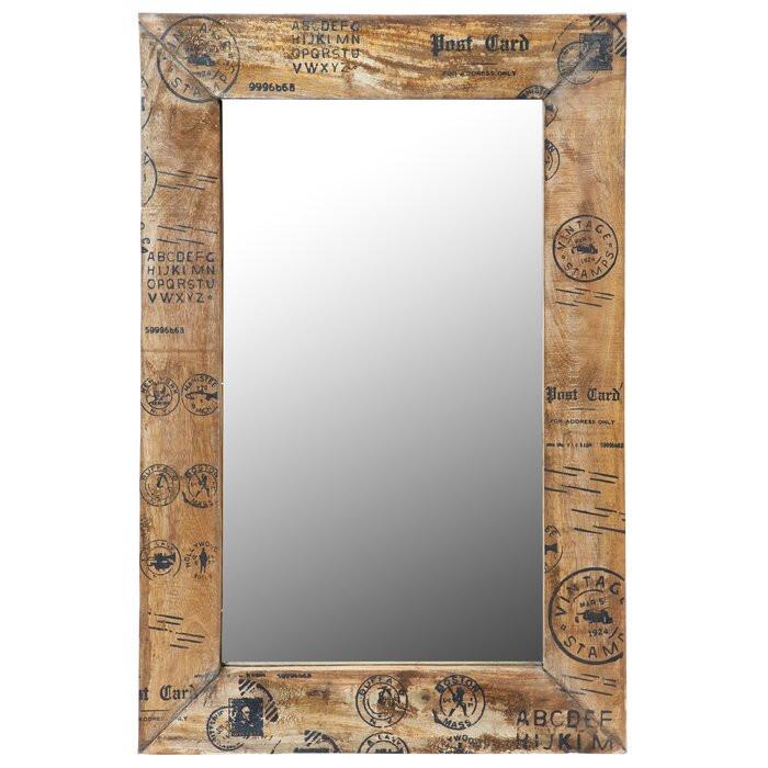 Oglinda de perete Noam, lemn, maro, 90 x 60 x 2 cm chilipirul-zilei.ro