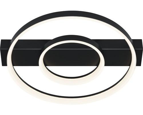 Plafoniera Petom, metal/plastic, neagra, 40 x 7 x 44 cm imagine chilipirul-zilei.ro