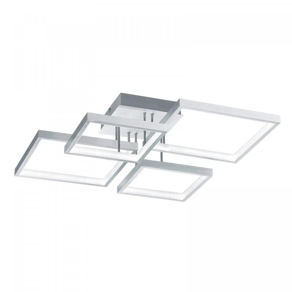 Plafoniera Sorrento I, metal/plastic, argintie, 53 x 16 x 53 cm, 24w 2021 chilipirul-zilei.ro