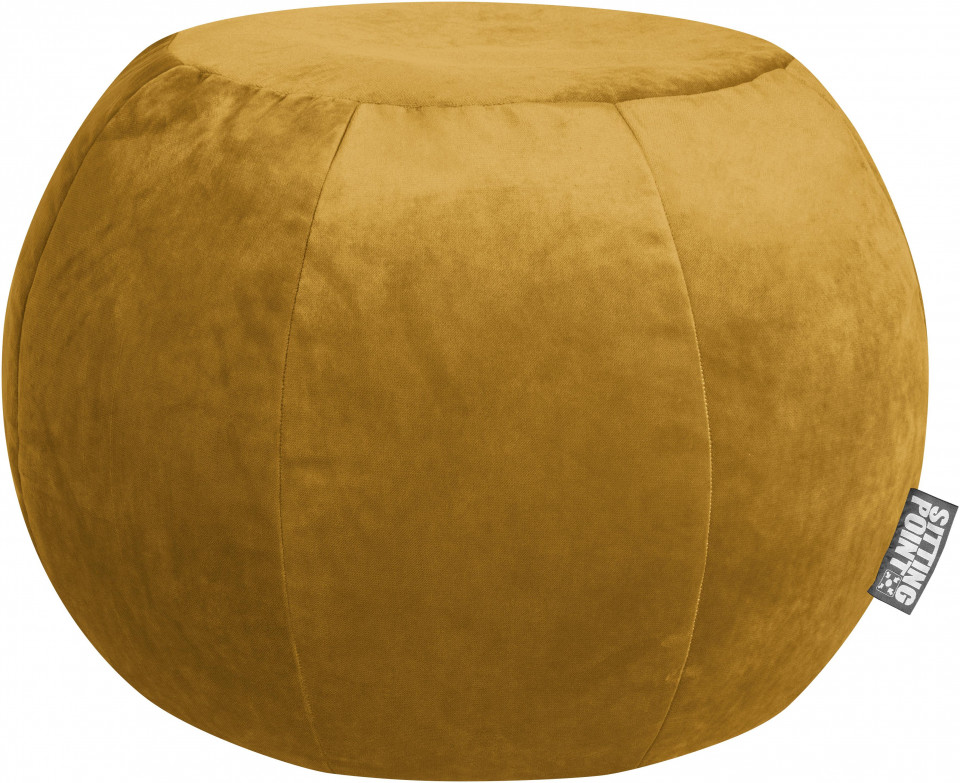 Puf de catifea Veluto Plump, galben muștar, 75 x 50 cm