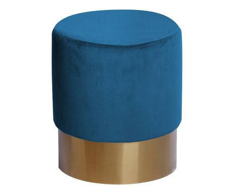 Puf Petito catifea, albastru, diametru 55 cm