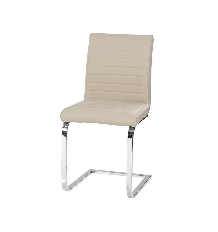 Scaun de masă tapițat Alethia, bej, 89cm H x 43cm W x 58.5cm D
