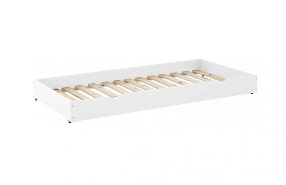 Sertar pentru depozitare Alpi lemn masiv de pin, alb, 90 x 200 cm