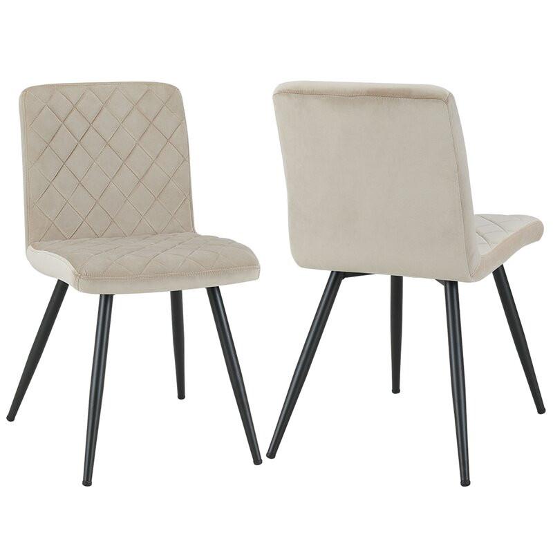 Set de 2 scaune Corpuz, crem, 84 x 43 cm chilipirul-zilei.ro