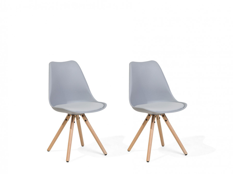 Set de 2 scaune Dakota, maro/gri, 49 x 45 x 86 cm image0