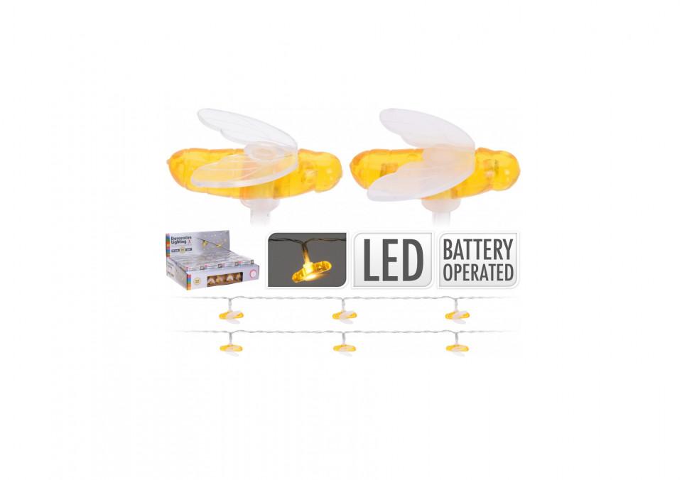 Set de 2 siraguri de 10 lumini LED Karll libelule