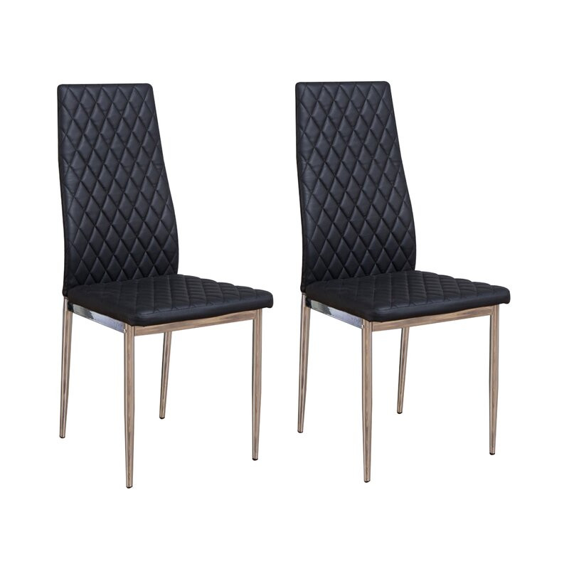 Set de 6 scaune Samirah, negru, 97 x 42 cm