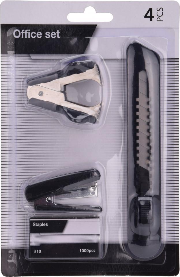 Set de birotica Karll, capsator, decapsator si cutter