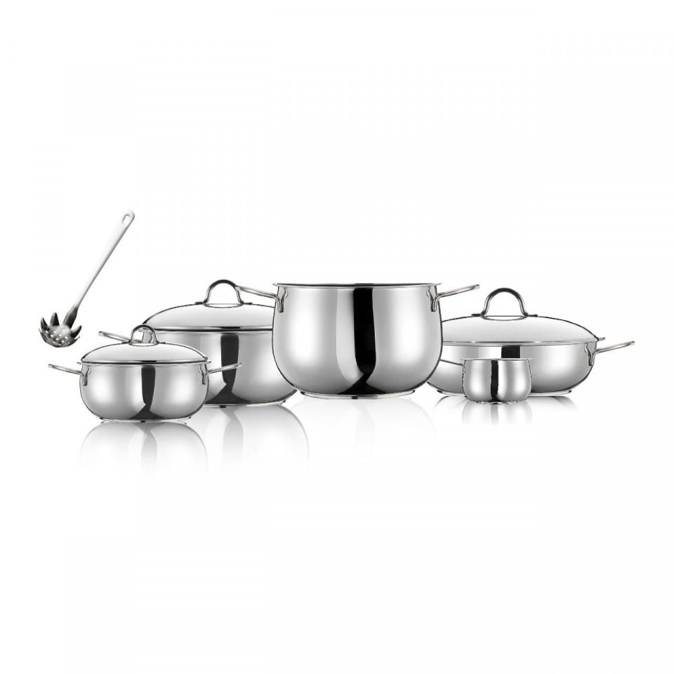 Set de vase de gatit River Inoxriv, 9 piese imagine chilipirul-zilei.ro