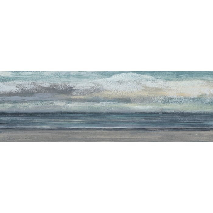 "Tablou ""Beach Rise IV"", albastru/gri, 51 x 152 x 3,81 cm chilipirul-zilei 2021"