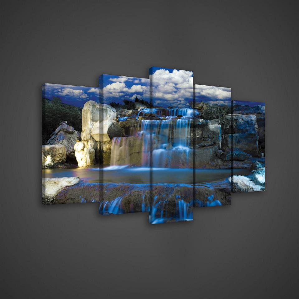 Tablou Blue Waterfall