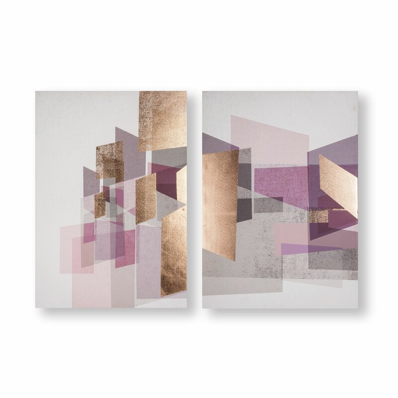 Tablou 'Rose Gold Geos', 70 x 100 cm poza chilipirul-zilei.ro